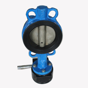 Industrial butterfly wafer valve With Gearbox , PN 10 Bar Hand / Manually Operated