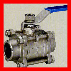 Forged Metal Seated Floating Ball Valve / Flanged Type Wafer Ball Valve