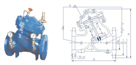 Industrial High Pressure Reducing Valves For Water Distribution Pipes