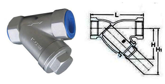 Compact Structure Water Meter Strainer Double Ported Balance Valve System